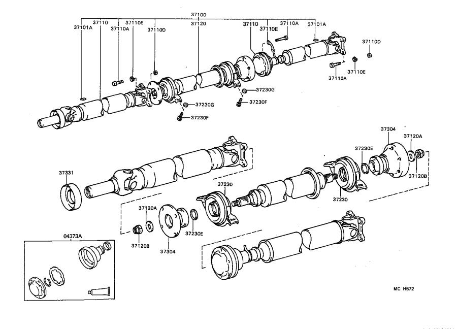 Toyota Camry Shaft assembly, propeller. Driveline