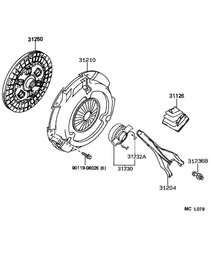 Toyota Corolla Cover assembly, clutch. Driveline