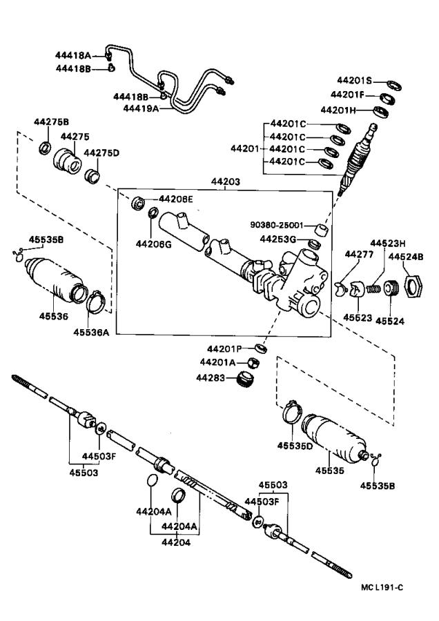 Toyota Paseo Steering Tie Rod End (Left, Right). Brakes