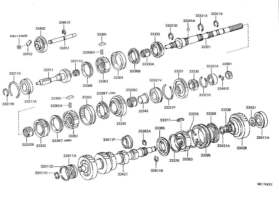 Toyota 4Runner Manual Transmission Output Shaft Bearing