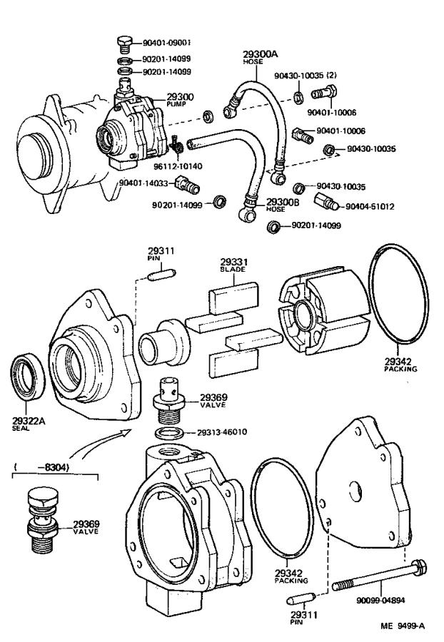 Toyota PickUp Pump assembly, vacuum. Engine, system