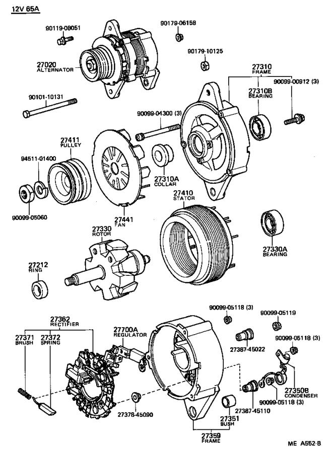 Toyota Celica Bearing(for alternator drive end frame
