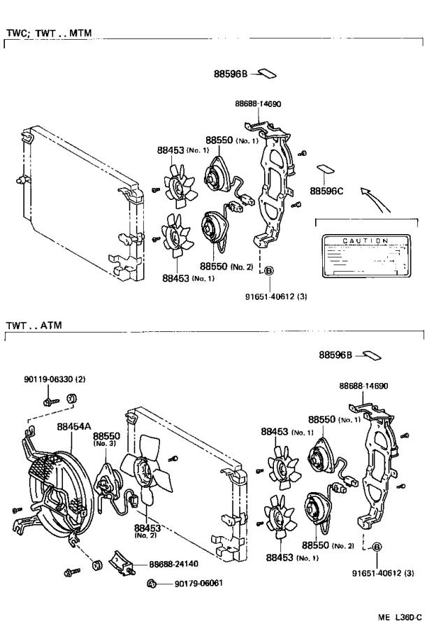 Toyota Supra Motor assembly, blower (for condenser). Twt