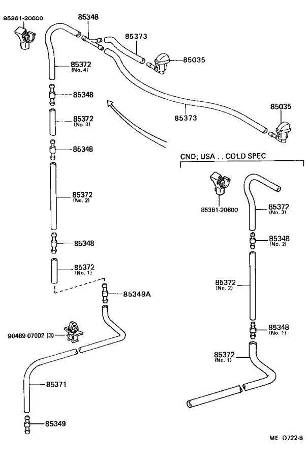 Toyota Celica Windshield Washer Pump. Motor and Pump