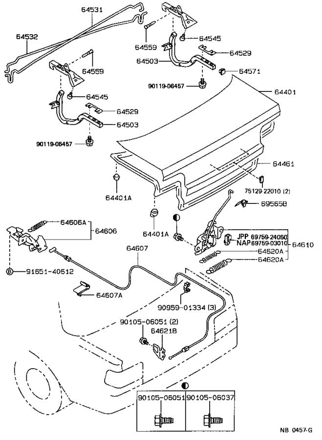 Toyota Corolla Lock assembly, luggage compartment door