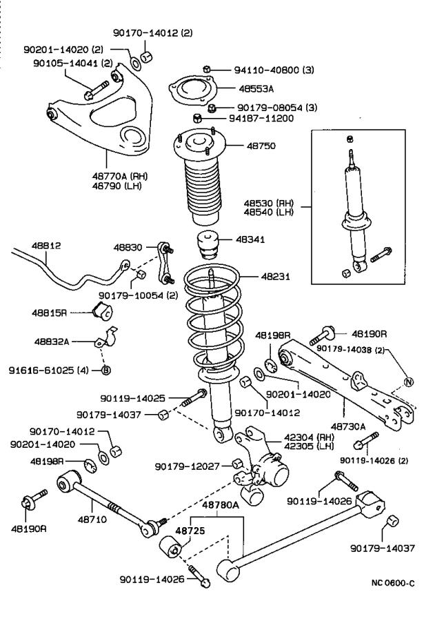 Toyota Cressida Support assembly, rear suspension. Brakes
