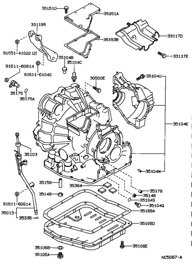Toyota Camry Cover, transaxle case, upper. Transmission