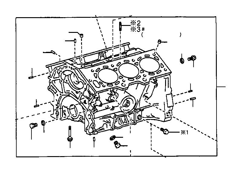 Toyota Sienna Block sub-assembly, cylinder. Oil, cooler