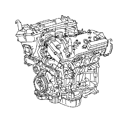 Toyota Sienna Engine assembly, partial. Components