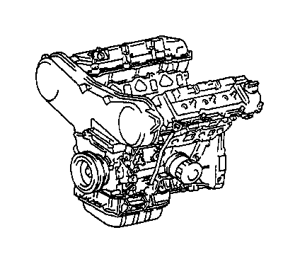 Toyota Solara Engine Complete. Engine, PARTIAL. ASSEMBLY