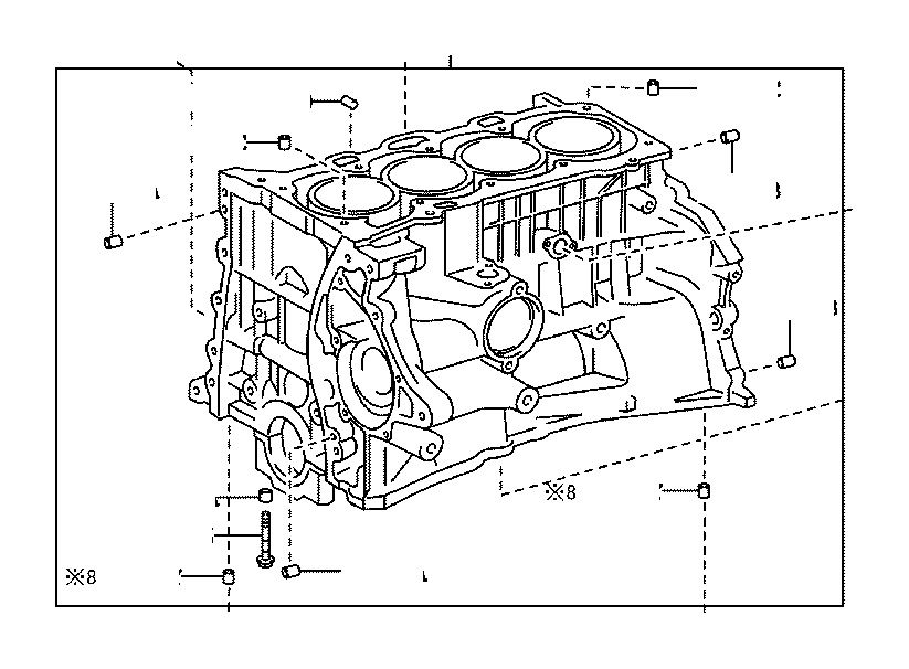 Toyota Camry Block sub-assembly, cylinder. Engine, oil