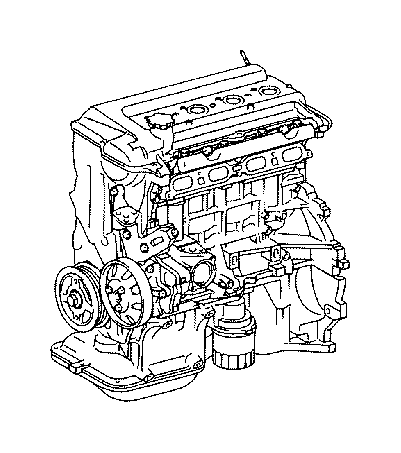 Toyota Yaris Engine Complete. Engine, PARTIAL. Assembly