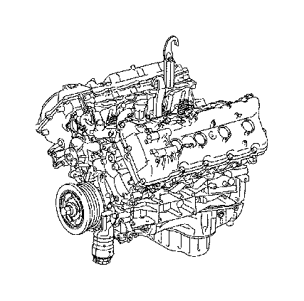Toyota Land Cruiser Engine assembly, partial. Towing, spec