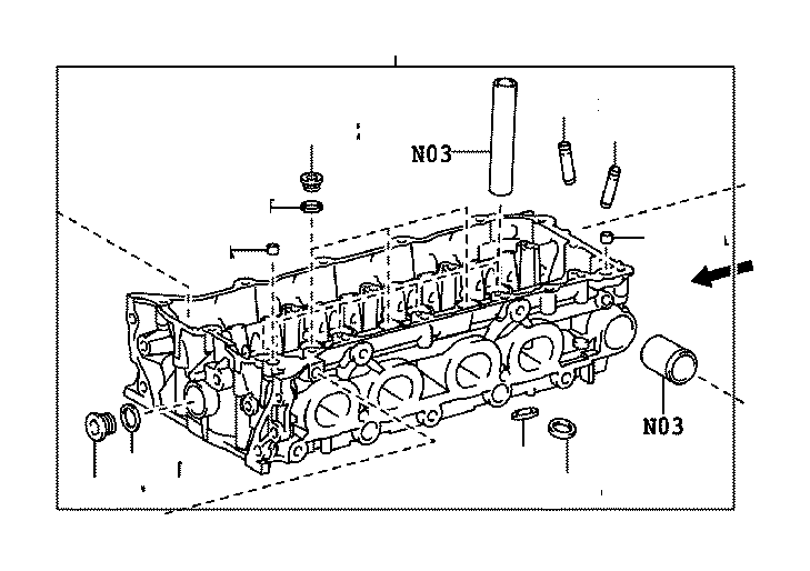 Toyota Venza Head sub-assembly, cylinder. Engine