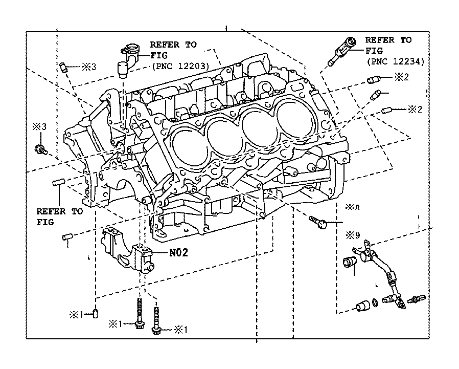 Toyota Tundra Block sub-assembly, cylinder. Engine