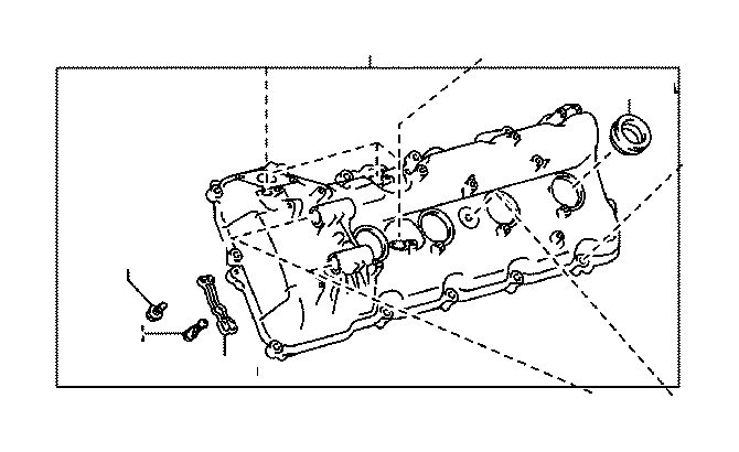 Toyota Sequoia Engine Valve Cover (Left). Cover, Cylinder
