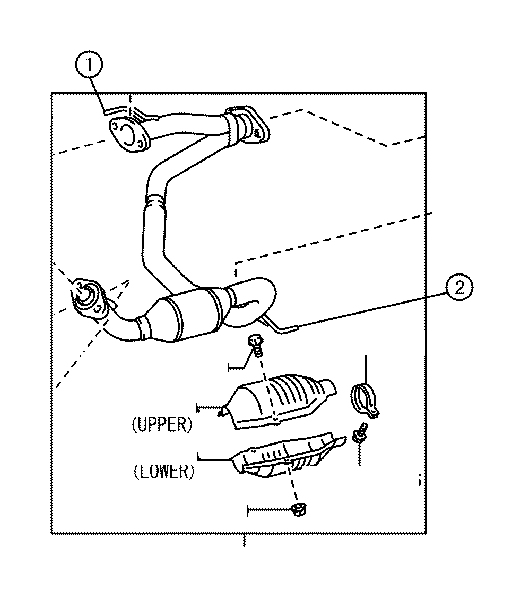 Toyota Tacoma Protector, monolithic converter. Exhaust