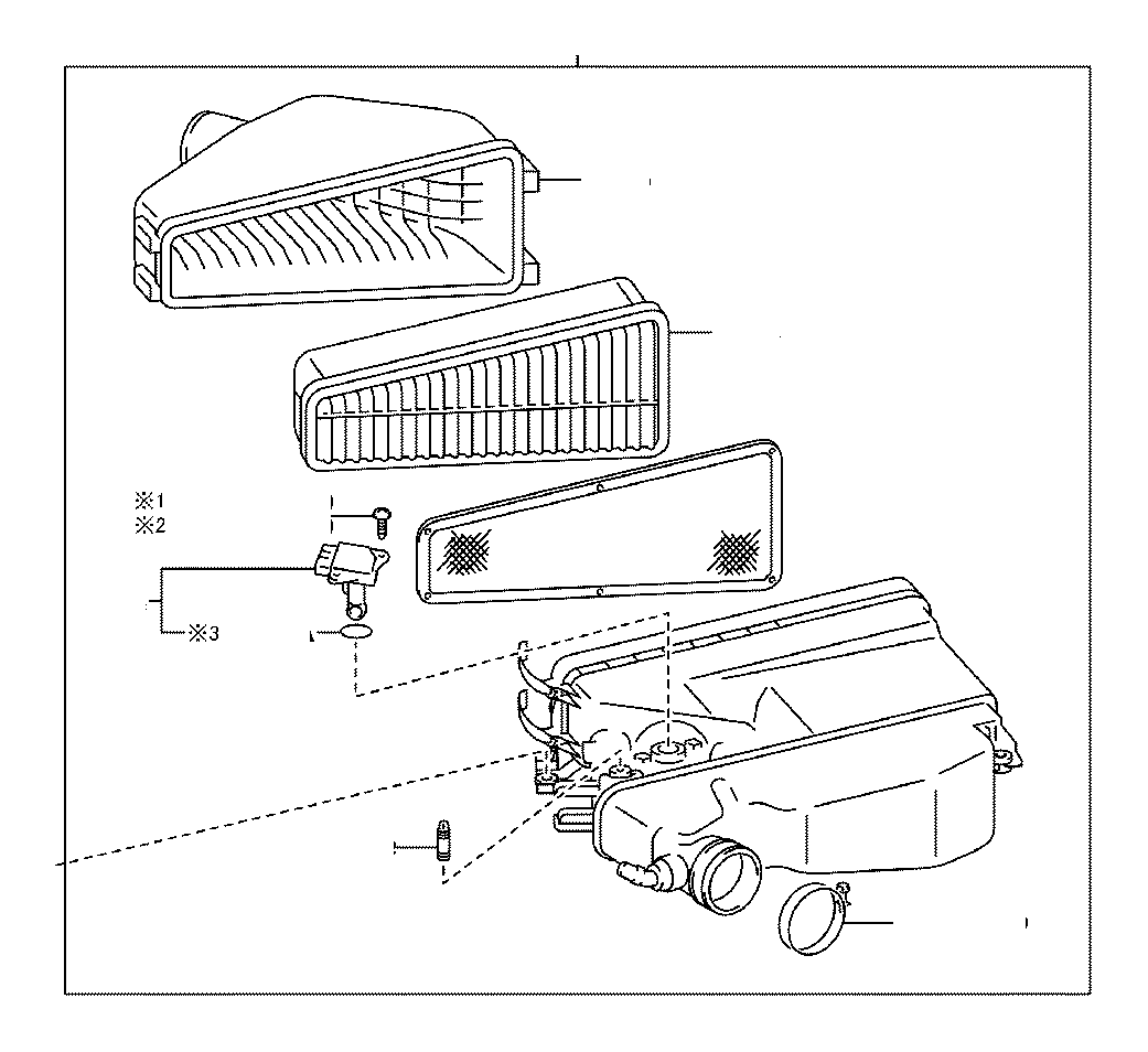 Toyota 4Runner Cleaner assembly, air with. Engine