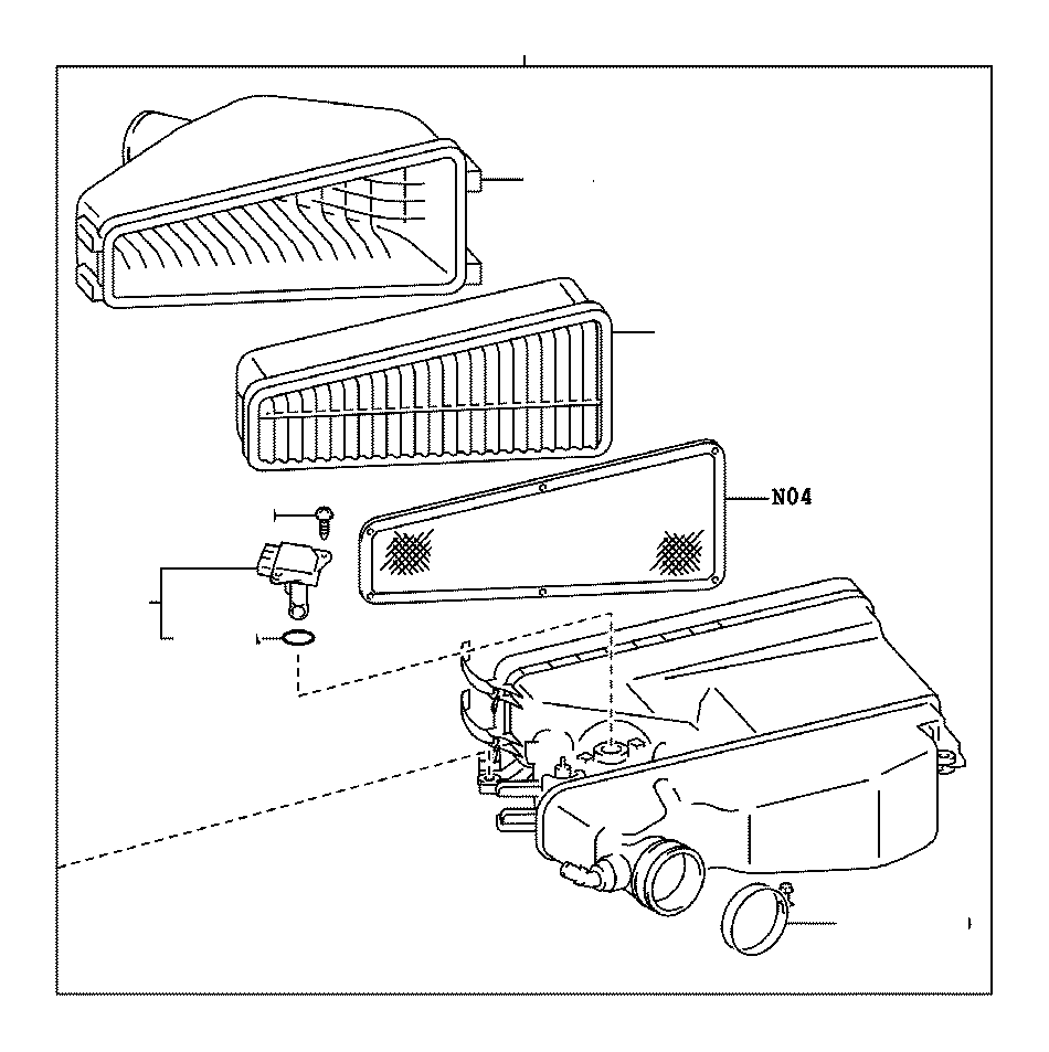 Toyota Highlander Meter sub-assembly, intake air flow