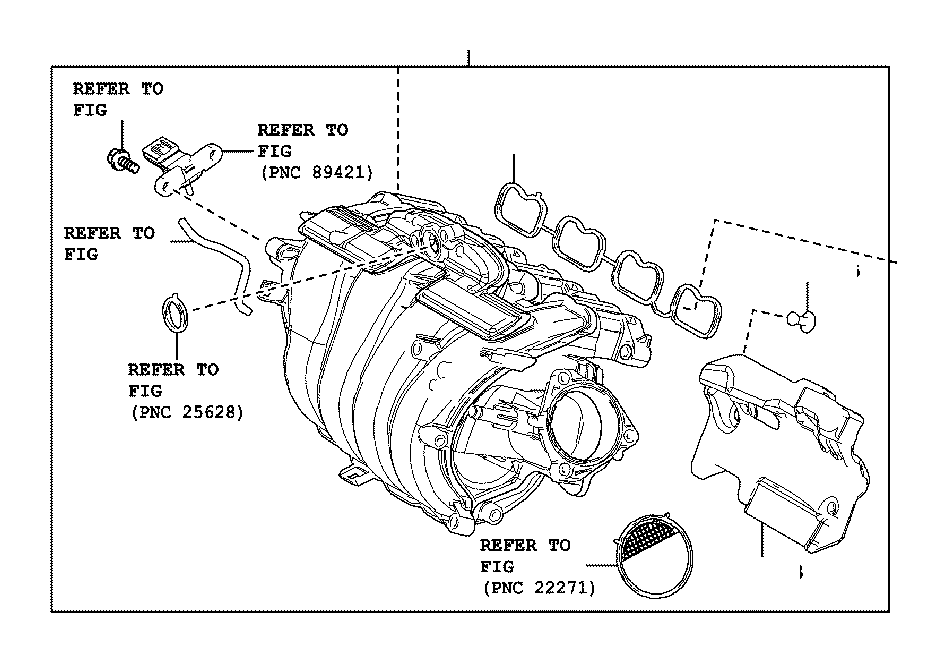 Toyota Camry Engine Intake Manifold. Engine component that