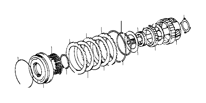 Toyota Tacoma Piston sub-assembly, overdrive direct clutch