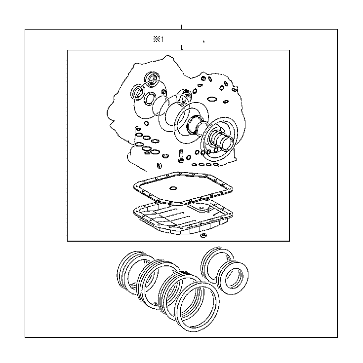 Toyota Matrix Gasket kit, transaxle overhaul(atm