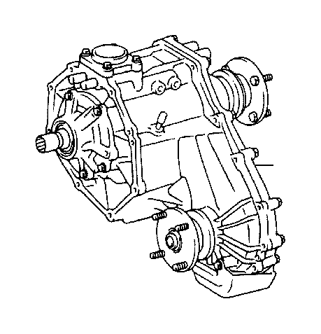 Toyota Sequoia Transfer assembly. Driveline, transmission