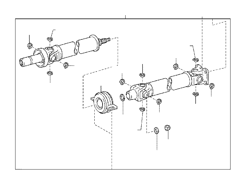Toyota Tacoma Bearing assembly. Center support, no. 1