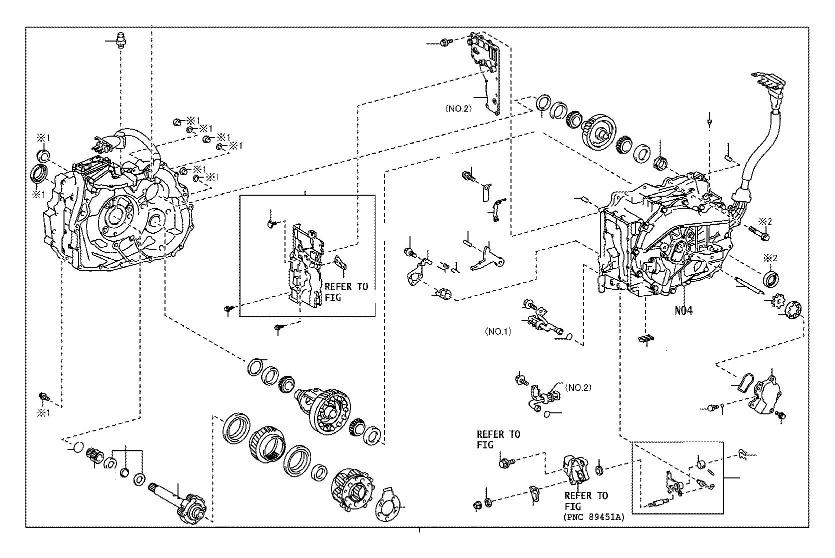Toyota Corolla Transaxle Assembly Hybrid Vehicle