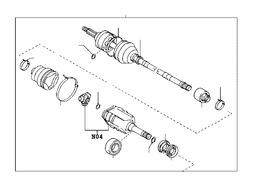 Toyota Avalon Shaft assembly, front drive, right. Brakes