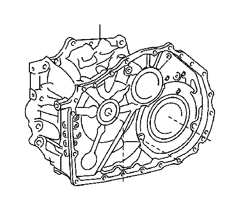 Toyota Camry Housing, transaxle. Differential, brakes