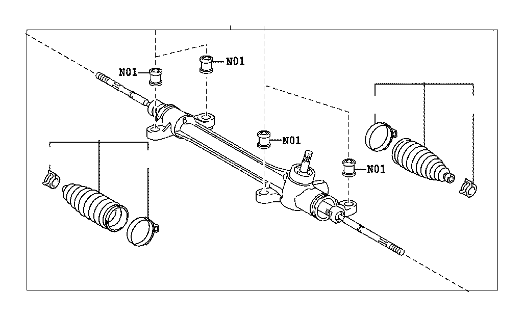 Toyota Corolla Rack and Pinion. Steering, Gear, Brakes