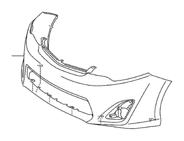 Toyota Camry Bumper Cover (Front). Body, Interior