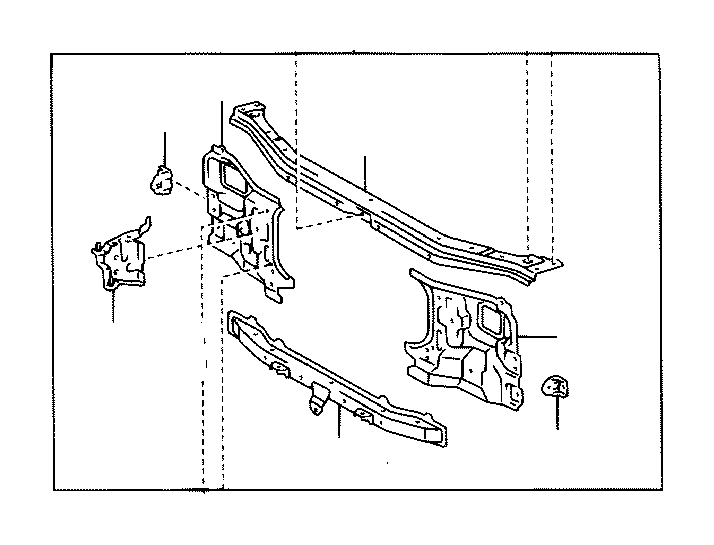 Toyota Sequoia Radiator Support Side Panel (Right