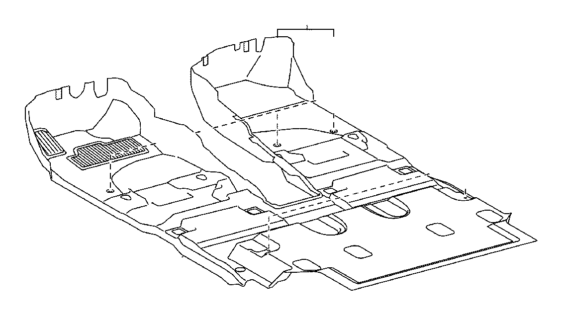 Toyota Land Cruiser Carpet assembly, floor, front. Md.gray