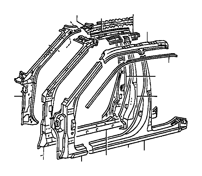 Toyota Camry Rail, roof side, inner right. Body, interior