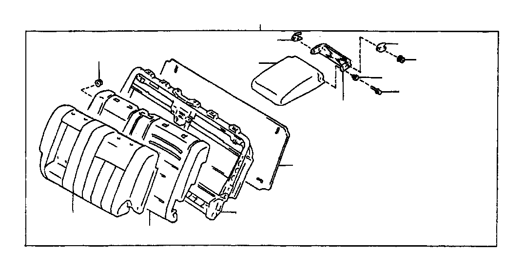 Toyota Land Cruiser Board sub-assembly, rear seat back