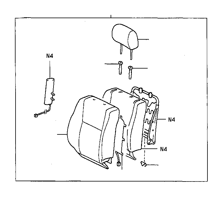 Toyota Camry Seat Heater Pad (Left, Right, Front). Heater