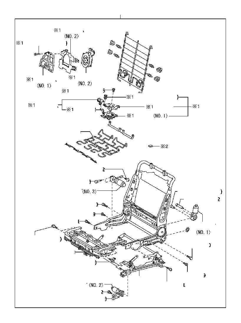 Toyota Avalon Seat Adjuster (Left, Front). POWER, MANUAL
