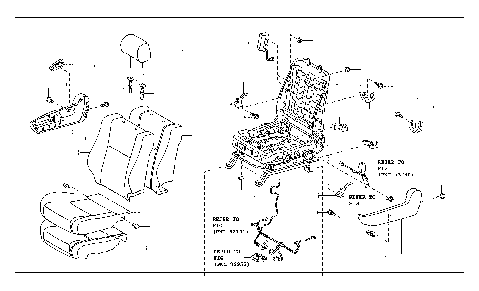 Toyota Tundra Cover, front seat back, right(for separate
