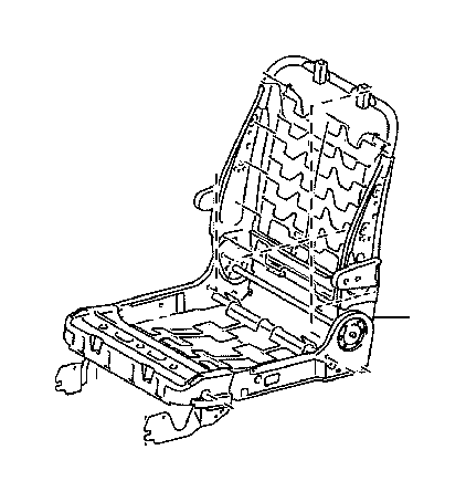Toyota Sienna Frame assembly, rear seat with adjuster