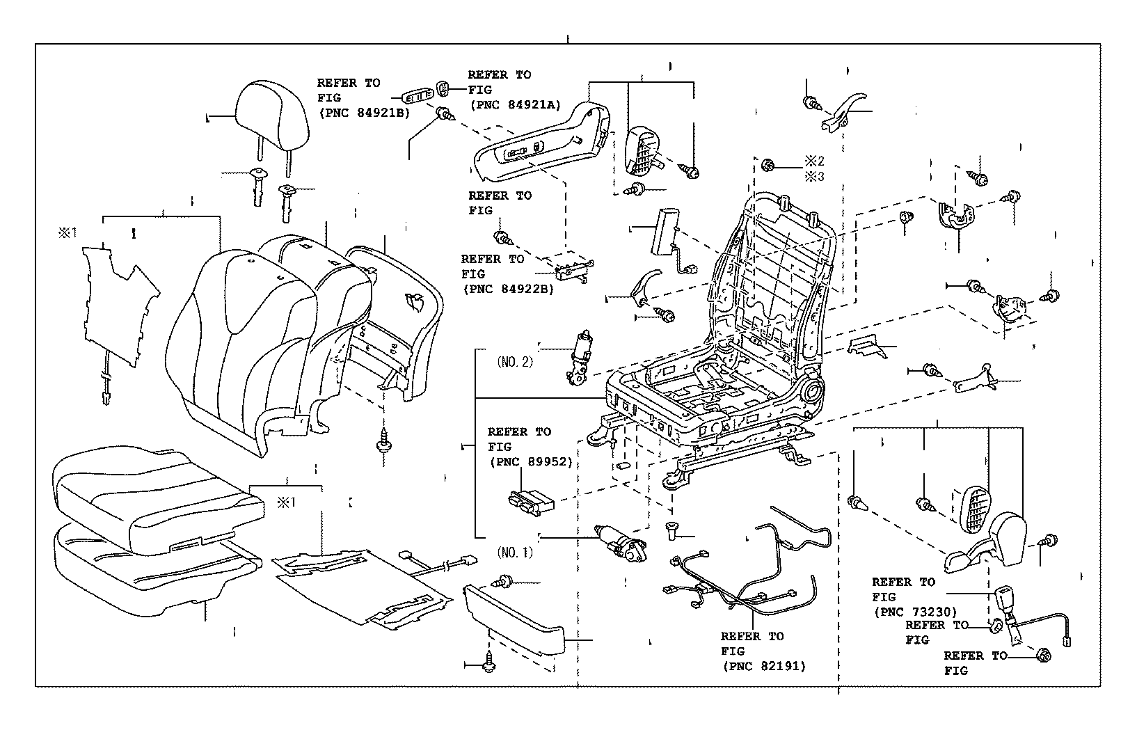 Toyota Camry Pad, front seat back, right(for separate type