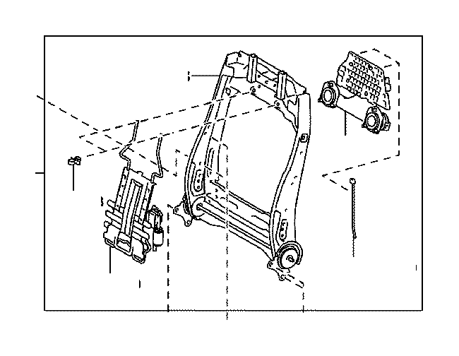 Toyota Corolla Seat Back Frame (Right, Front). A seat