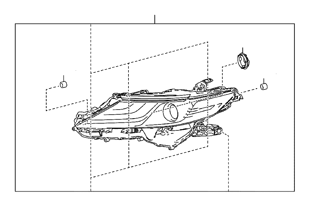 Toyota Camry Headlight (Left). Electrical, Lighting, Lamps