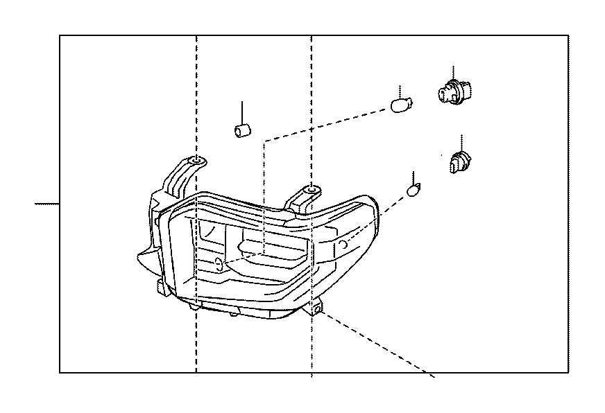 Toyota Tundra Headlight (Left). Electrical, Lamps