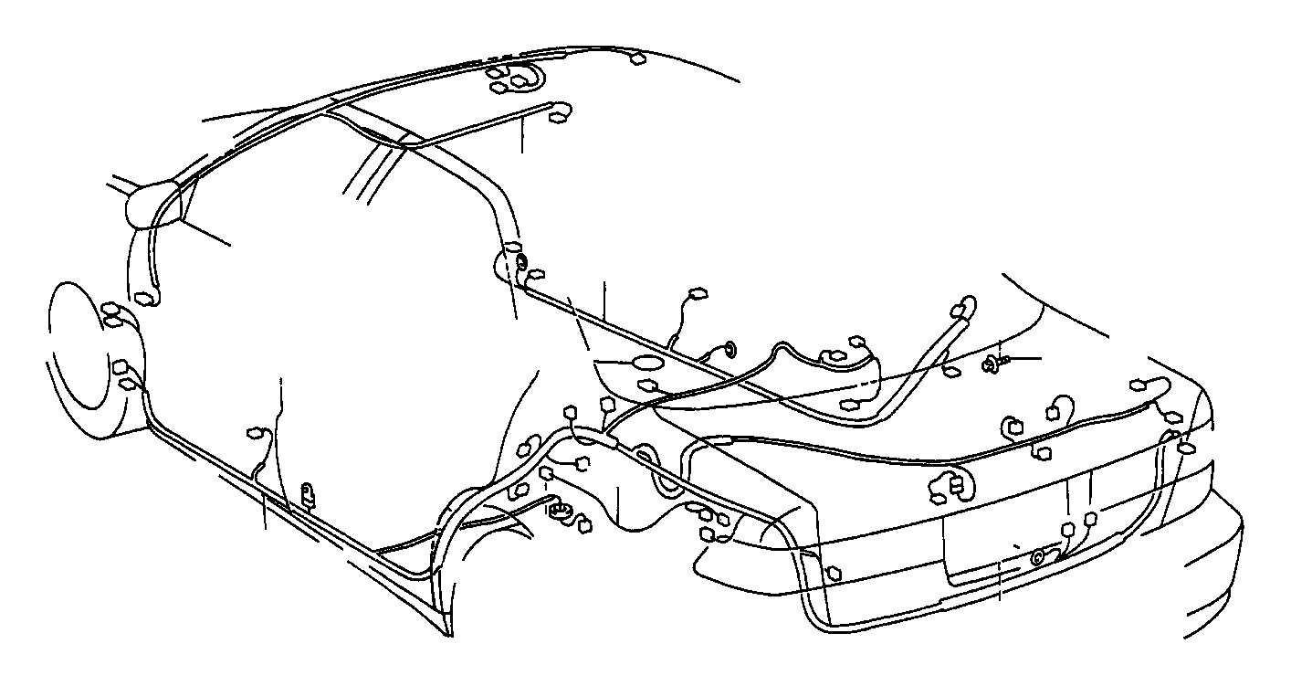 Toyota Camry Wire, floor, no. 2. Electrical, side, wiring
