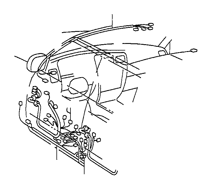 Toyota 4Runner Wire, rear door, no. 1. Electrical, power