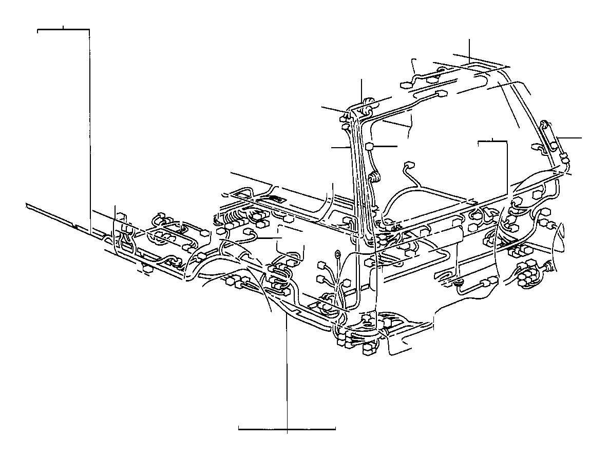 Toyota Land Cruiser Wire, frame. Wiring, electrical, clamp