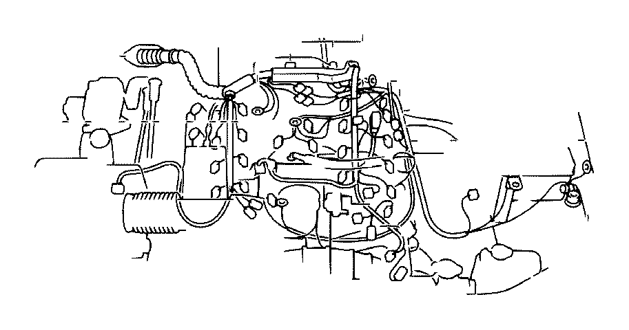 Toyota Tundra Wire, engine. Electrical, wiring, clamp