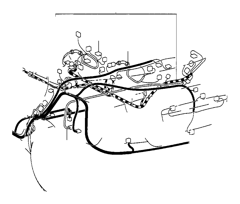Toyota Camry Wire, rear door, no. 1. Electrical, wiring